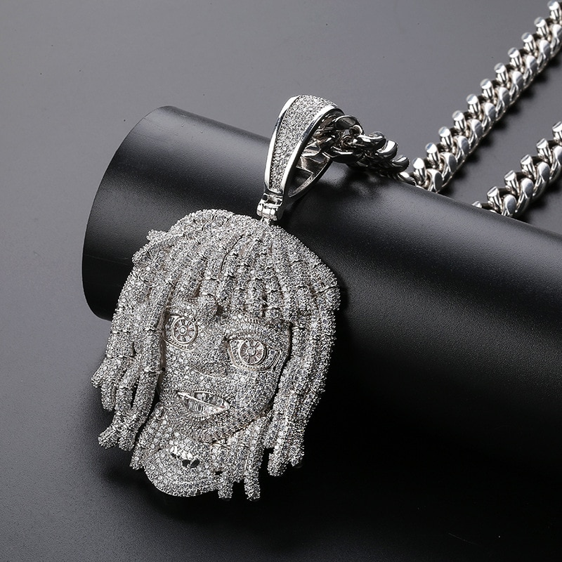 Promo Iced Out Rapper Pendant Necklace New Arrival AAA Cubic Zirconia Big Size Mens Necklace Fashion Hip Hop Jewelry