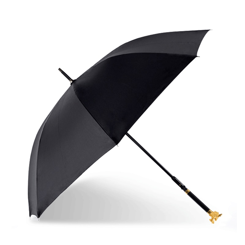 Black Umbrella Long Handle Vintage Large Windproof Uv Protection Business Adult Umbrella Fashion Paraguas Mujer Rain Gear BD50UU enlarge