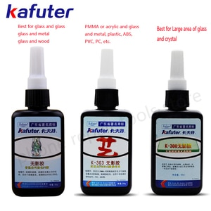 Brand New Strong 50ml Kafuter UV Glue Curing Adhesive K-302 303 300  UV Curing Adhesive Crystal Glass and Metal ABS Bonding