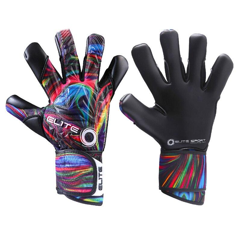 Professional Soccer Goalkeeper Gloves Black Thickened Latex Gloves Goalkeeper Football Training Equipment Non-Slip Luxury Glove