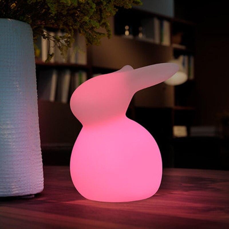 مصباح أرنب ثلاثي الأبعاد محيط ، ضوء ليلي ، إضاءة زخرفية داخلية ، مثالي لغرفة الأطفال أو كهدية عيد الميلاد.