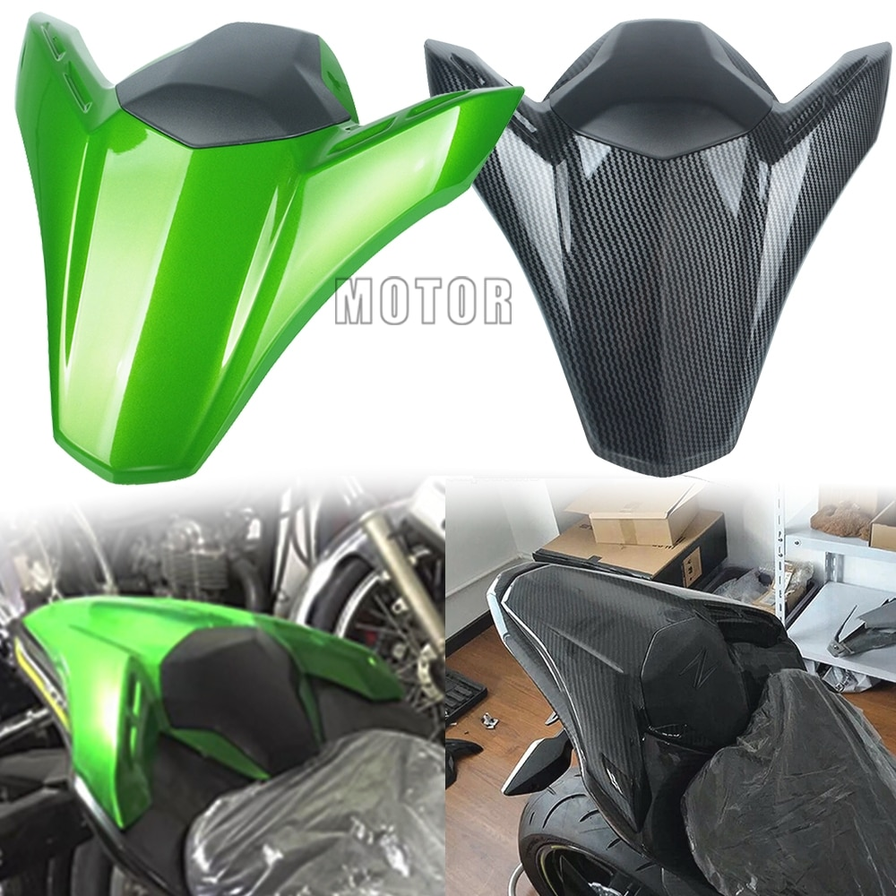 Фото - Motorcycle Accessories ABS Carbon fiber plastic Solo Rear Seat Cover Cowl green For Kawasaki Z900 Z 900 2017 2018 2019 2020 2021 z seat