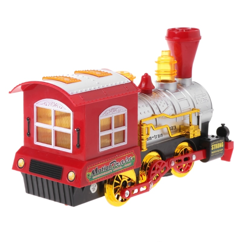 Tren de juguete soplado de burbujas, motor de locomotora a batería con luz y música F3ME