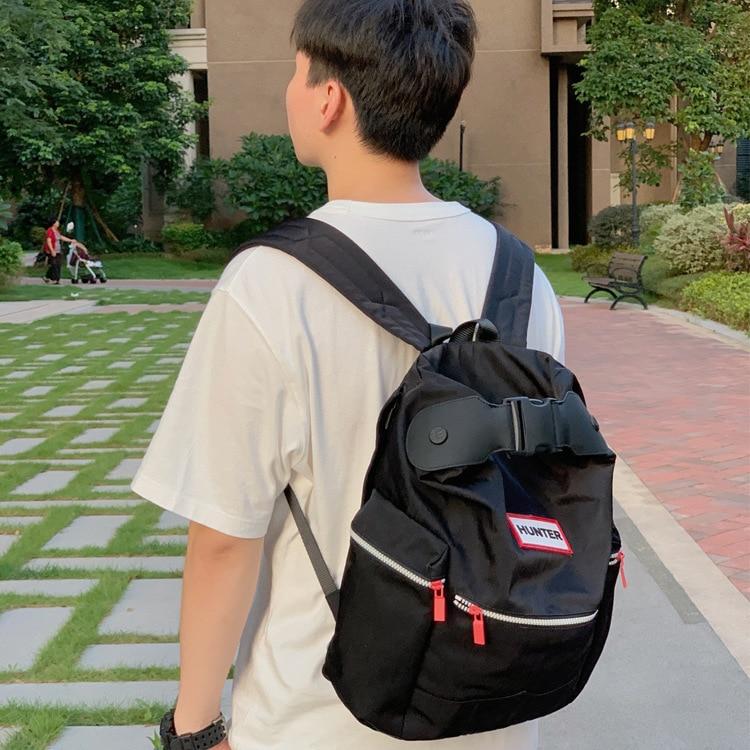 Hunter Large Backpack men's and women's bag leisure bag rain proof light top button trend backpack c