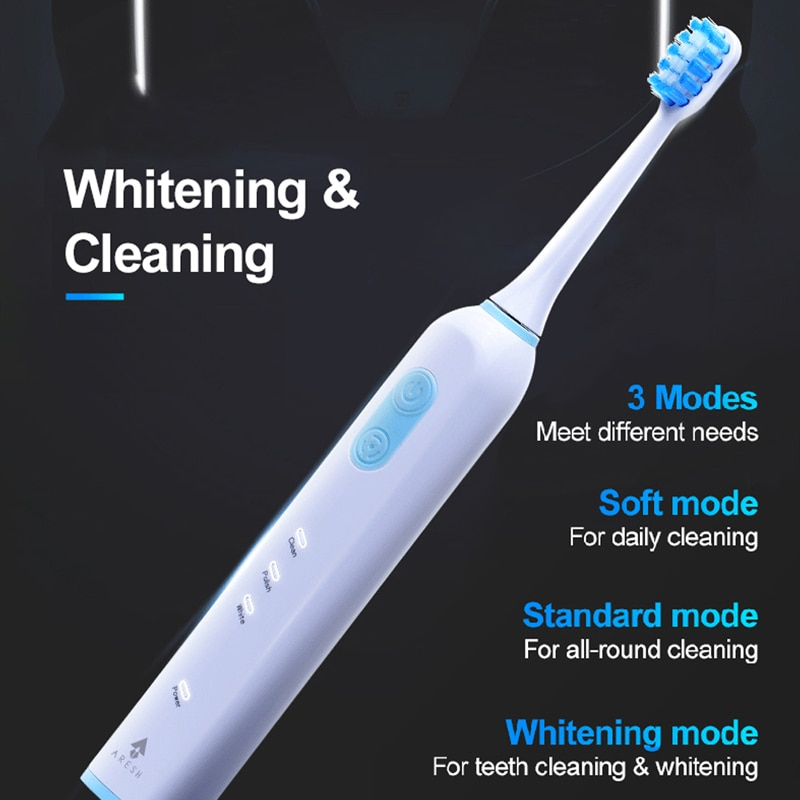 ARESH Electric Toothbrush Rechargeable Buy One Get One Free Sonic Toothbrush 3 Mode Adult IPX7 Waterproof With 6 Brush Head Gift enlarge