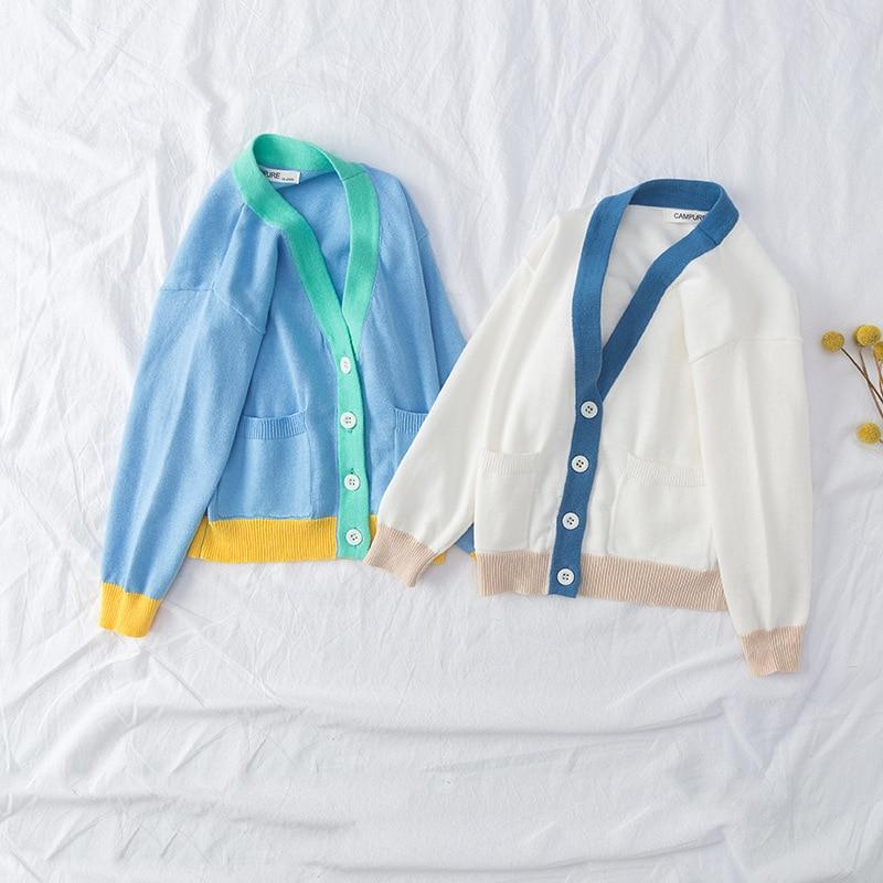 MILANCEL spring new kids sweaters Korean style girls boys knitwear  v neck girls cardigans