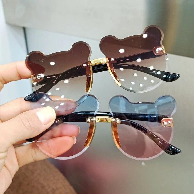 Детские солнцезащитные очки модные детские солнцезащитные очки милые Мультяшные круглые солнцезащитные очки в форме медведя цветка антиб...