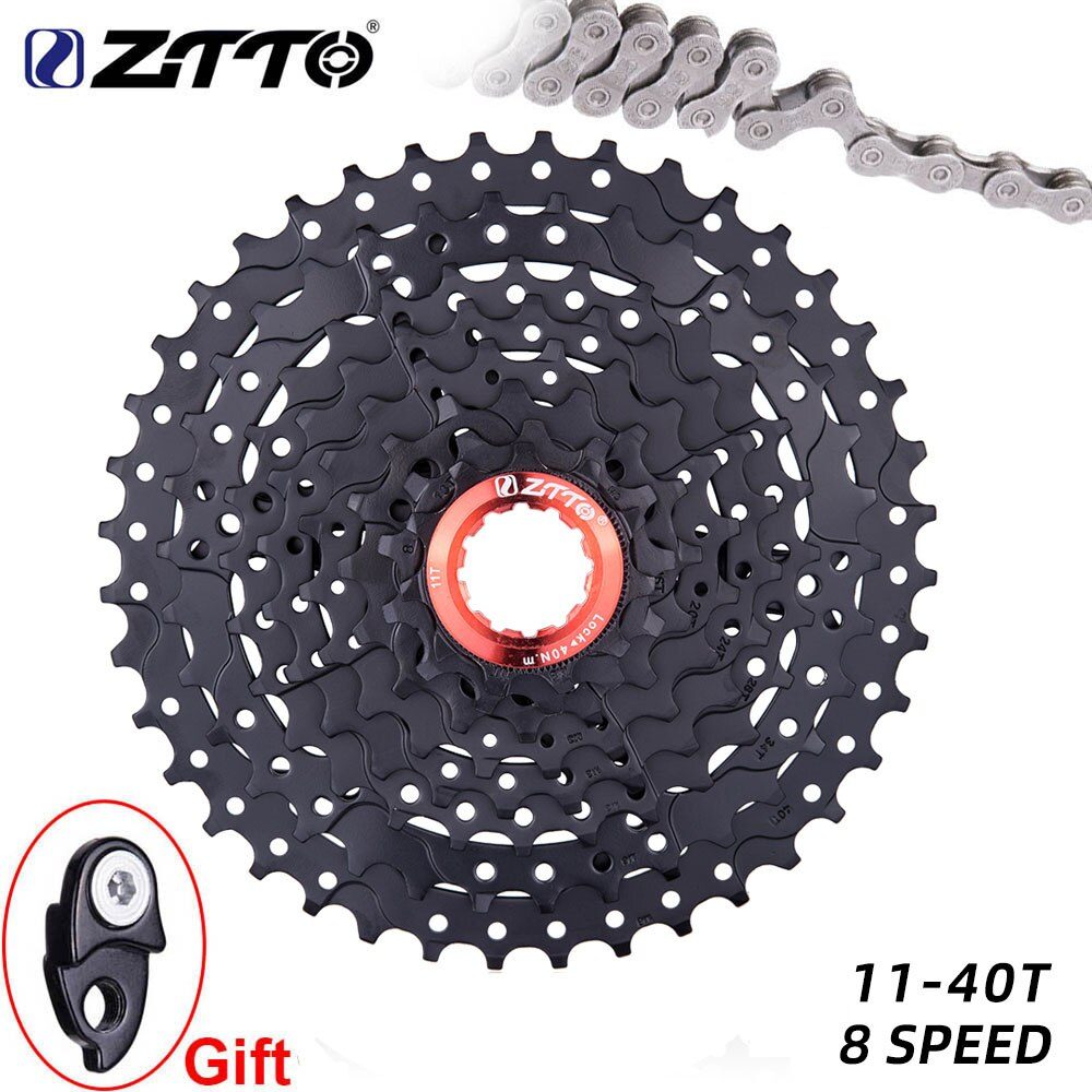 ZTTO MTB 8 velocidad bicicleta Cassette 11-40T rueda libre de acero 8 s volante de bicicleta de montaña para piezas M410 K7 X4 parte de bicicleta