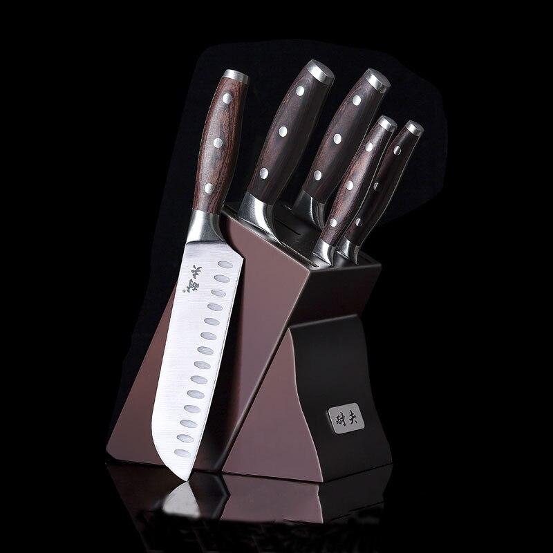 طقم السكاكين المطبخ 5Cr15Mov الفولاذ المقاوم للصدأ العظام المروحية سانتوكو فائدة سكين التقشير مع حامل العظام اللحوم الخضروات Cutlerys