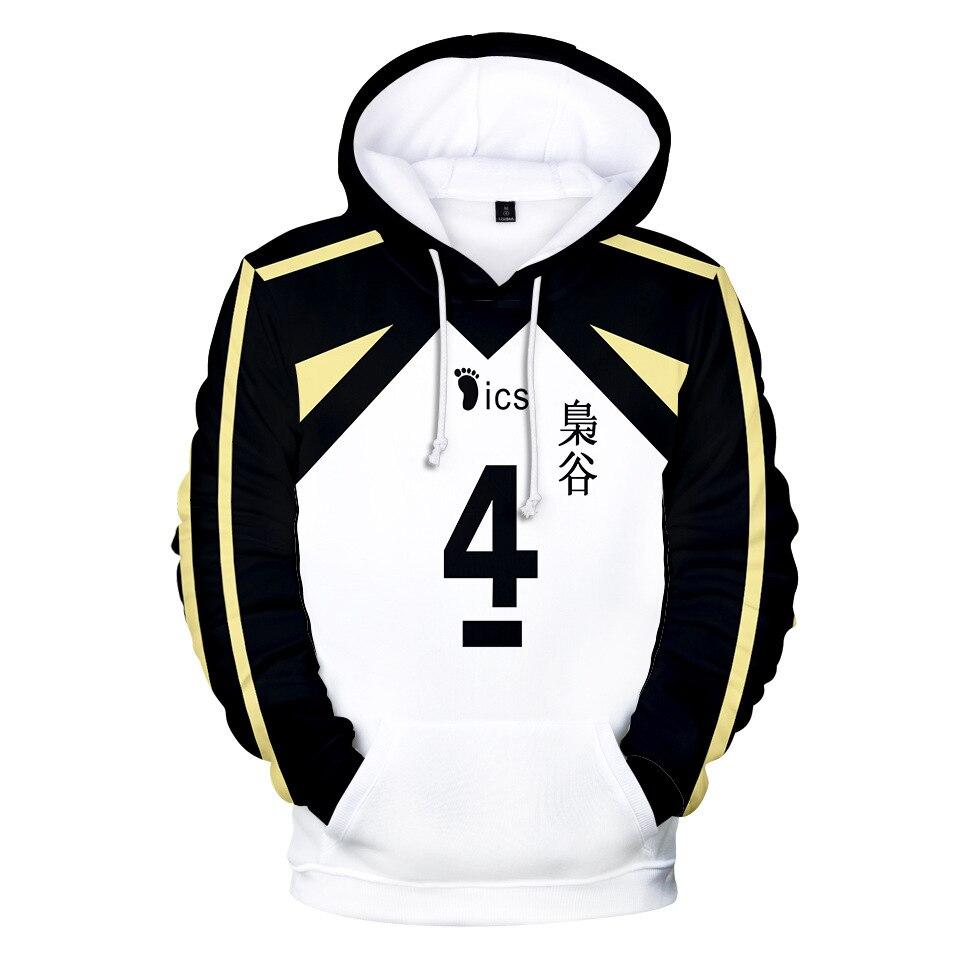 Haikyuu Косплей Костюм Fukurodani Академия волейбол клуб Akaashi Keiji Bokuto Koutarou японское аниме унисекс 3D Толстовка с капюшоном