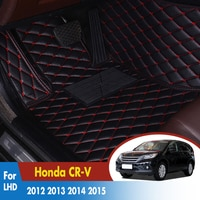 Car Floor Mats For Honda CR-V CRV 2012 2013 2014 2015 2016 Custom Carpets Rugs Auto Interior Mat Accessories Car-styling