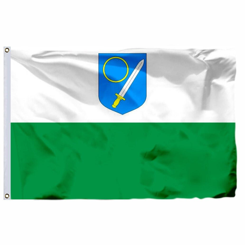 Estonia Domestic Counties Flag 90X150cm 3x5ft 120g 100D High Quality Võrumaa Lipp Banner Free Shipping