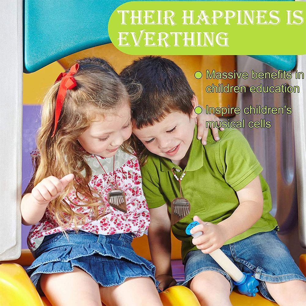 Eight-tone Mini Kalimba Thumb Piano Heart-shaped Mahogany Thumb Portable Piano Gift Adult Children Holiday H8i1