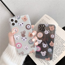 Cute Cartoon Phone Case For Huawei P40 P30 P20 Lite Mate 10 30 20 Pro P smart Nova 5t 3 For Honor 10 8X 9X 7A 8a Bear Soft Cover