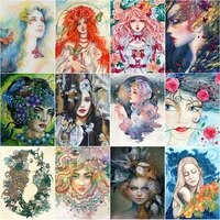 5d diamond painting kits girl portrait home character illustration full round square drill mosaic diamond embroidery home decor