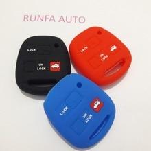 Car Silicone Key Case For Toyota RAV4 Echo Camry Yaris Avensis Kluger For Lexus GX470 RX350 ES300 FOB Key 3 Button
