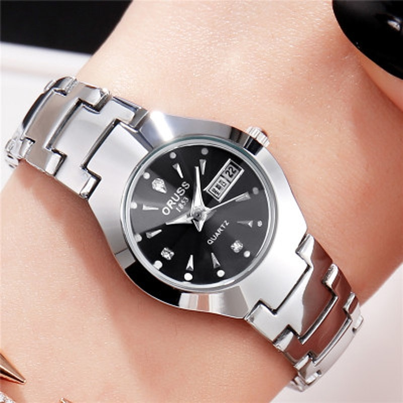 2021 Fashion Korean Style Watches for Women Alloy Simple 30M Waterproof Personality Quartz Calendar Ladies Luxury Wrist Watch enlarge