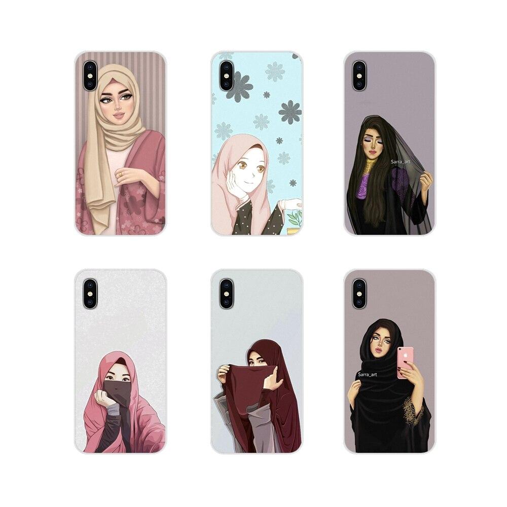 Muslim Islamic Gril Eyes Arabic For Samsung Galaxy S2 S3 S4 S5 Mini S6 S7 Edge S8 S9 S10E Lite Plus
