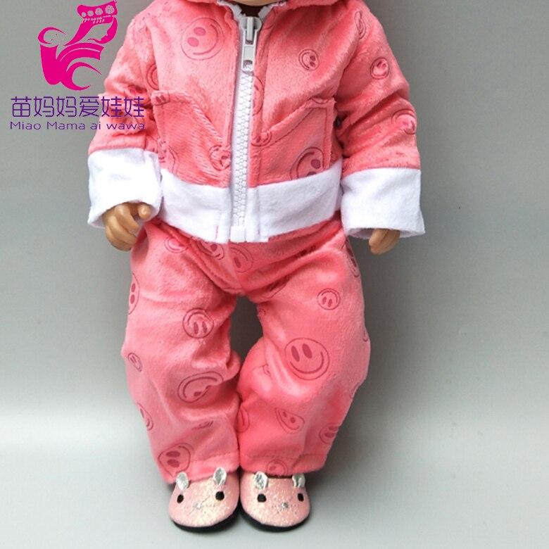 Комплект одежды для куклы, размер 43 см, одежда для новорожденных, 18 дюймов, аксессуары для кукольной одежды