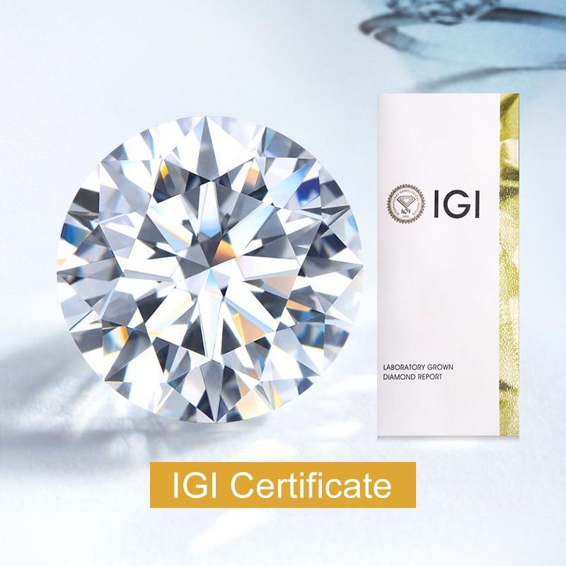 0.3ct 0.4ct 0.5ct CVD HPHT مختبر نمت الماس D VS1 VS2 VVS IGI شهادة