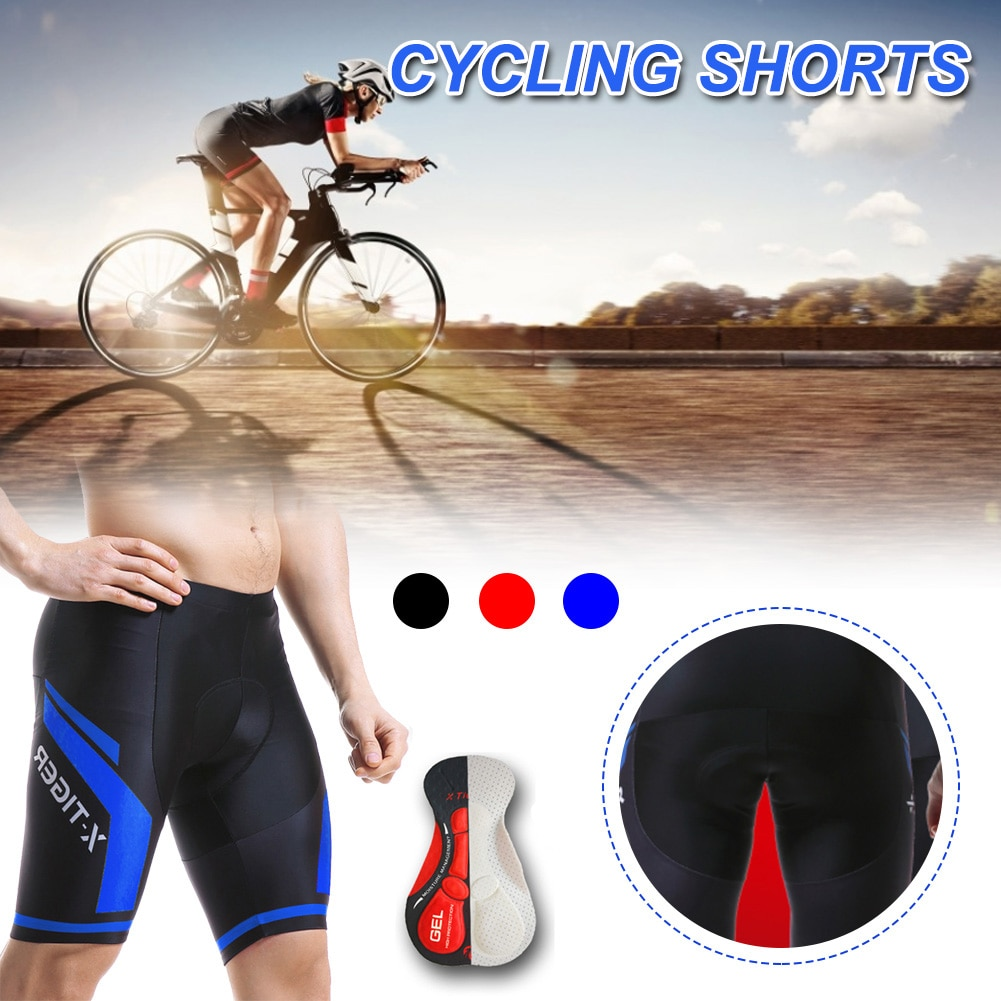 3D Gel Pad  Cycling Shorts Shockproof Cycling Shorts Long Pants Shockproof Cycling Tights With 5D Breathable Padded For Men