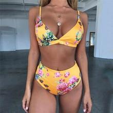 Sexy Leopard High Waist Push Up Bikini 2020 Brazil Swimsuit Women Tassel Swimsuit Beach Wearing Swimming Swimsuit