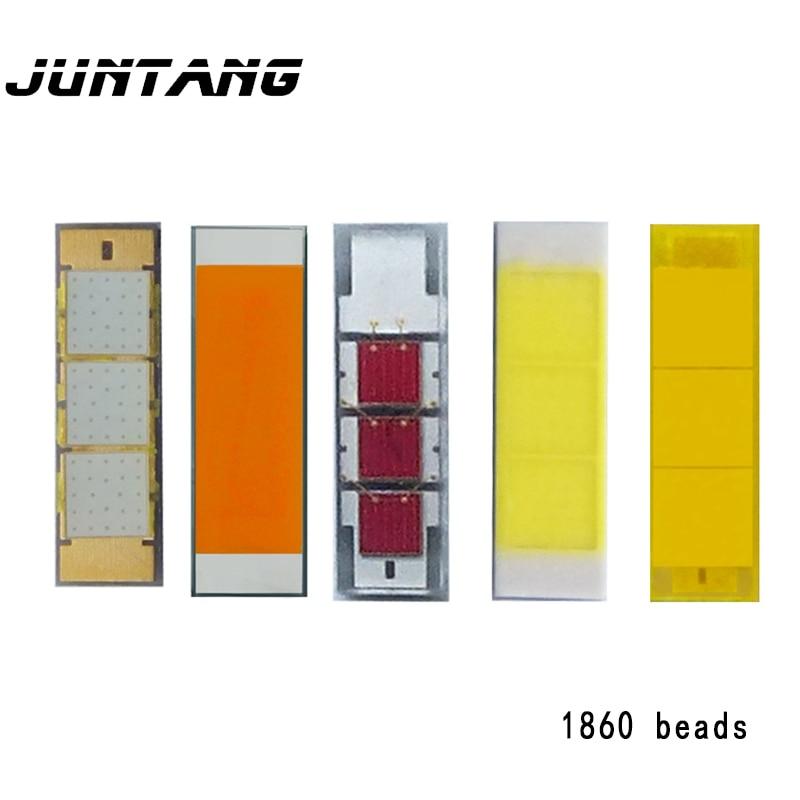 10 шт., светодиодные лампочки высокой мощности 1860, лампочки для автомобиля, белый светильник, теплый белый золотой светильник, красный светил...