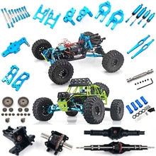 Wltoys 12428 12423 RC coche todos actualizar piezas de metal RC camión diferencial delantero trasero 12428-0011/0012/0013/0014 12428 piezas
