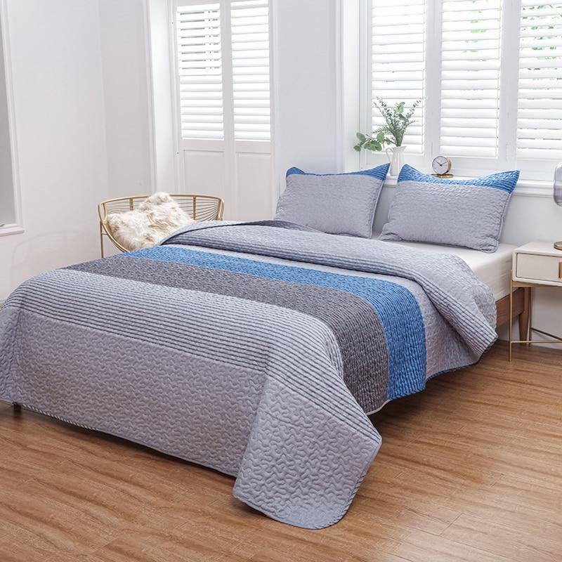 LUCKYBULL الأوروبي الكلاسيكية مخطط المفرش على السرير ثلاث قطع تنفس ستوكات جميع الفصول