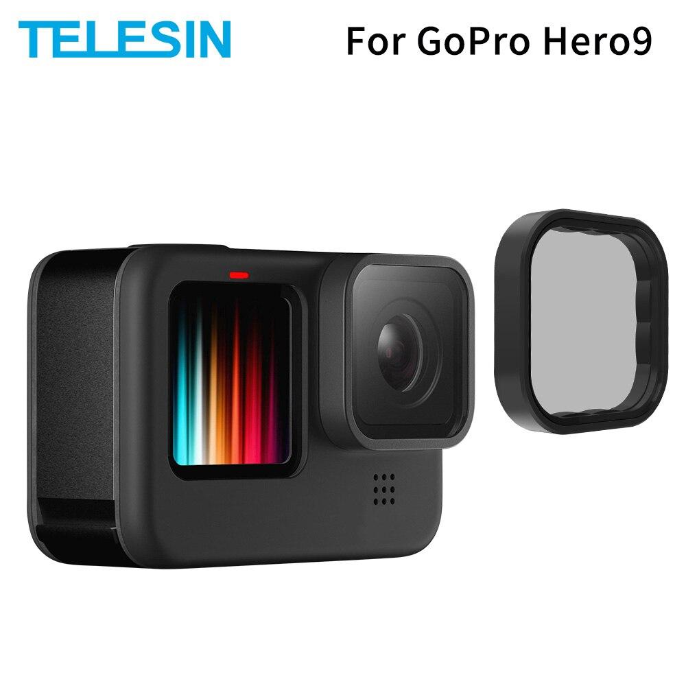 Conjunto de Liga Capa para Gopro Telesin Polarizando Lente Filtro Alumínio Quadro Hero 9 Ação Câmera Acessórios Cpl