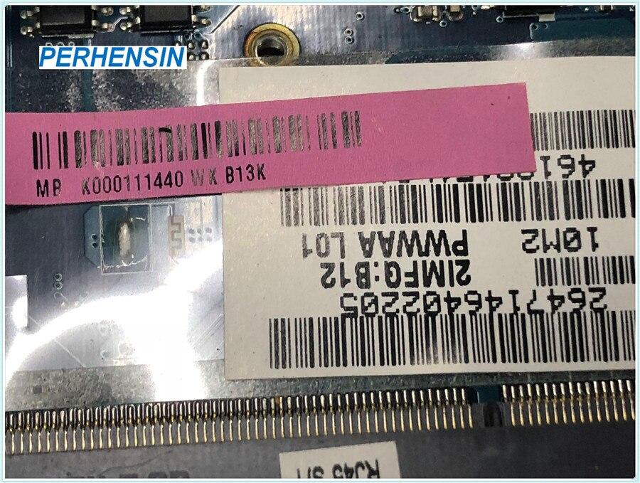 Para Toshiba C660 placa base de computadora portátil DDR3 K000111440 LA-6842P HM55 DDR3