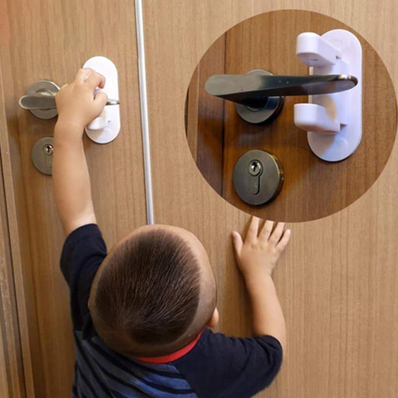 Дверное рычажное ребенка замок замки для шкафов малышу дверные замки удерживать детская ручка открывания двери замки для Безопасность обо...