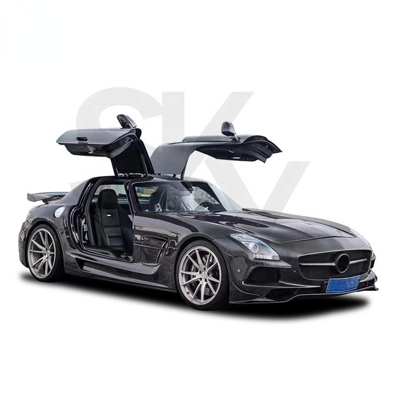 2010-2014 sls سيارة الوفير الأسود سلسلة طقم الجسم SLS الفئة R197 ترقية مجموعات الجسم