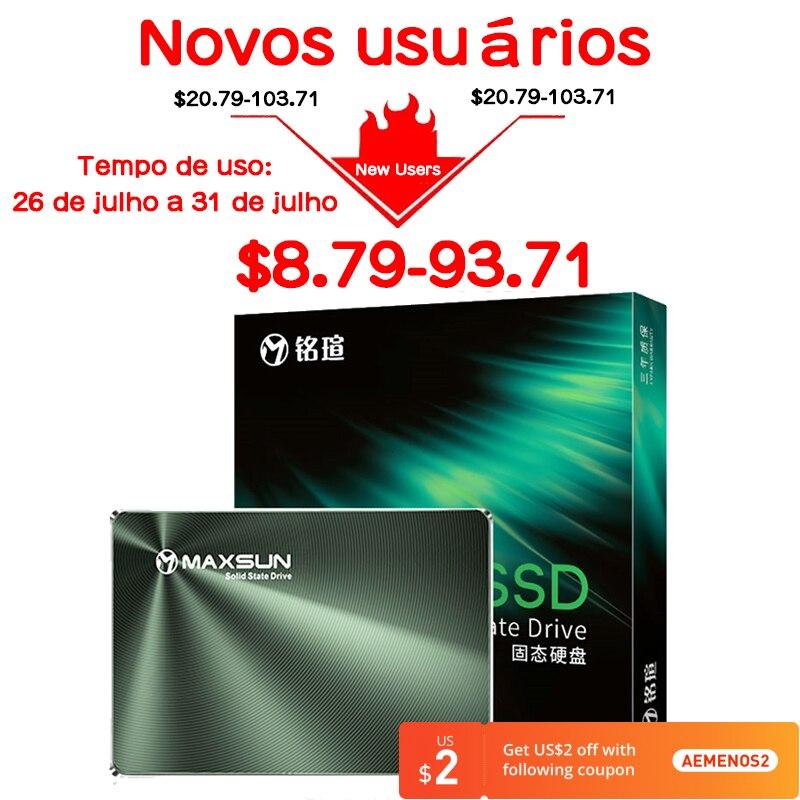 MAXSUN SSD 240 GB 480 GB الأجزاء الداخلية للكمبيوتر المحمول محركات الحالة الصلبة سطح المكتب 120GB 128GB 256GB الصلبة 520 برميل/الثانية 1 تيرا بايت SATA ضمان لمدة ث...