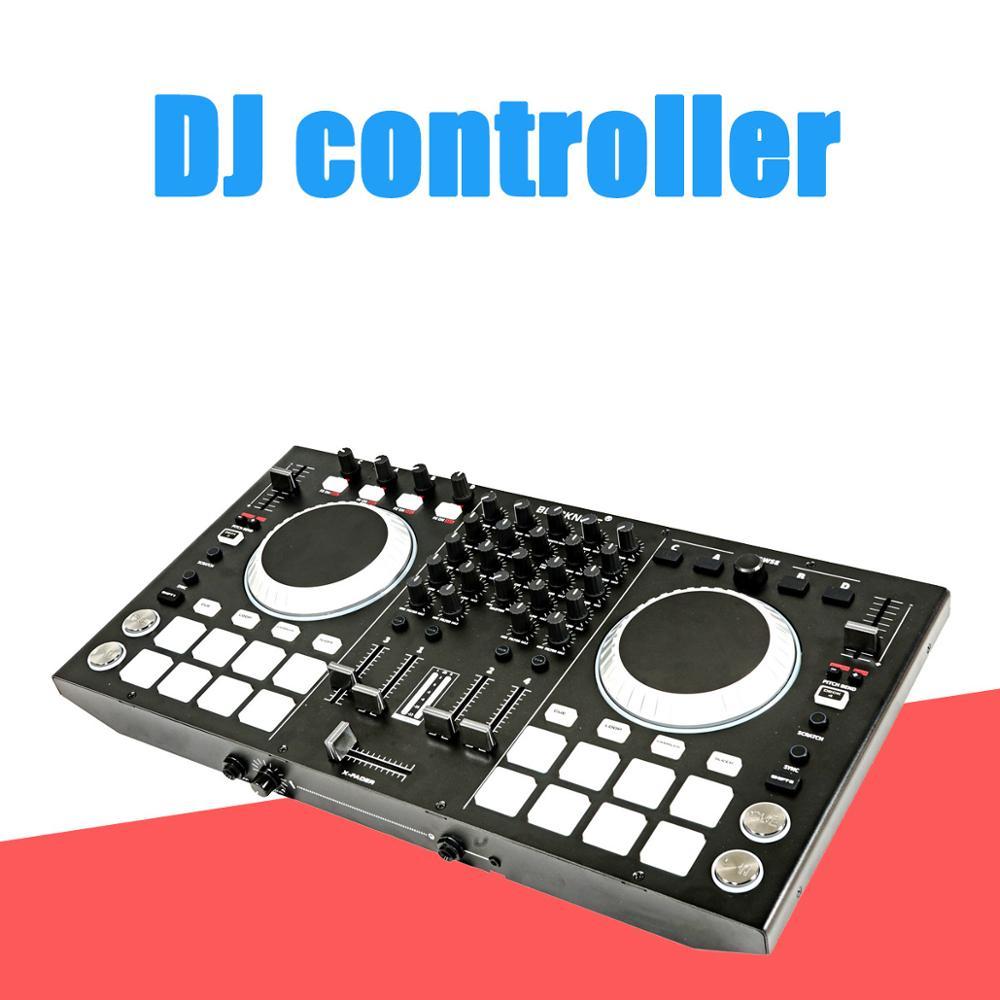 BLACKNOTE-controlador MIDI para DJ, consola mezcladora de sonido de reproducción, mezclador de...