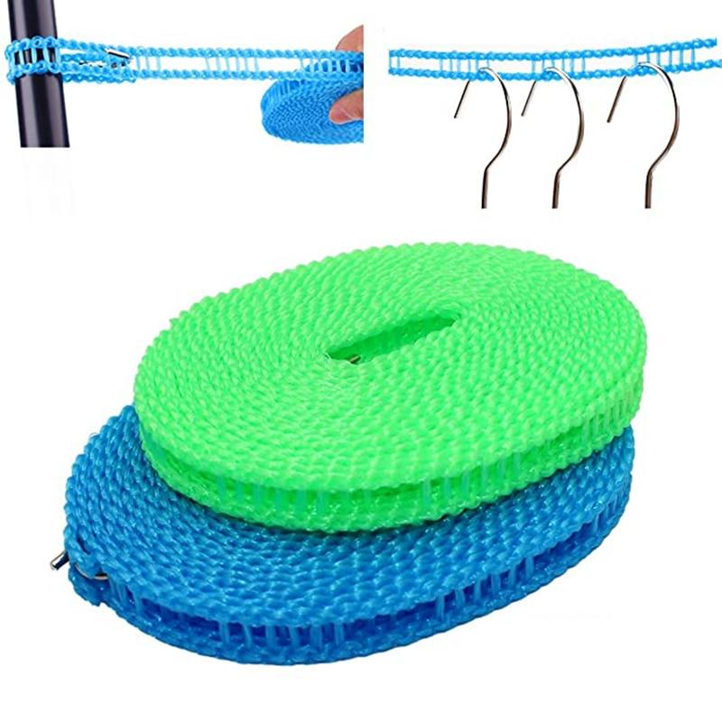 3M/5MP/8M/10M tendedero antideslizante al aire libre tendedero a prueba de viento cuerda retráctil de viaje línea de lavado Camping línea de secado