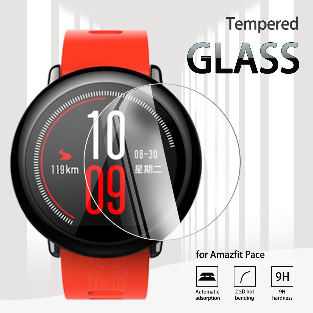 Amazfit Pace 2.5D Tempered Glass Screen Protector For Xiaomi Huami Amazfit Pace GPS Smart Watch Anti-Scratch Transparent Film transparent screen protector for xiaomi smart sports watch