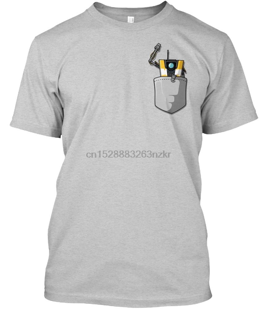 Camisa dos homens T Claptrap no bolso camiseta T-Shirt Das Mulheres