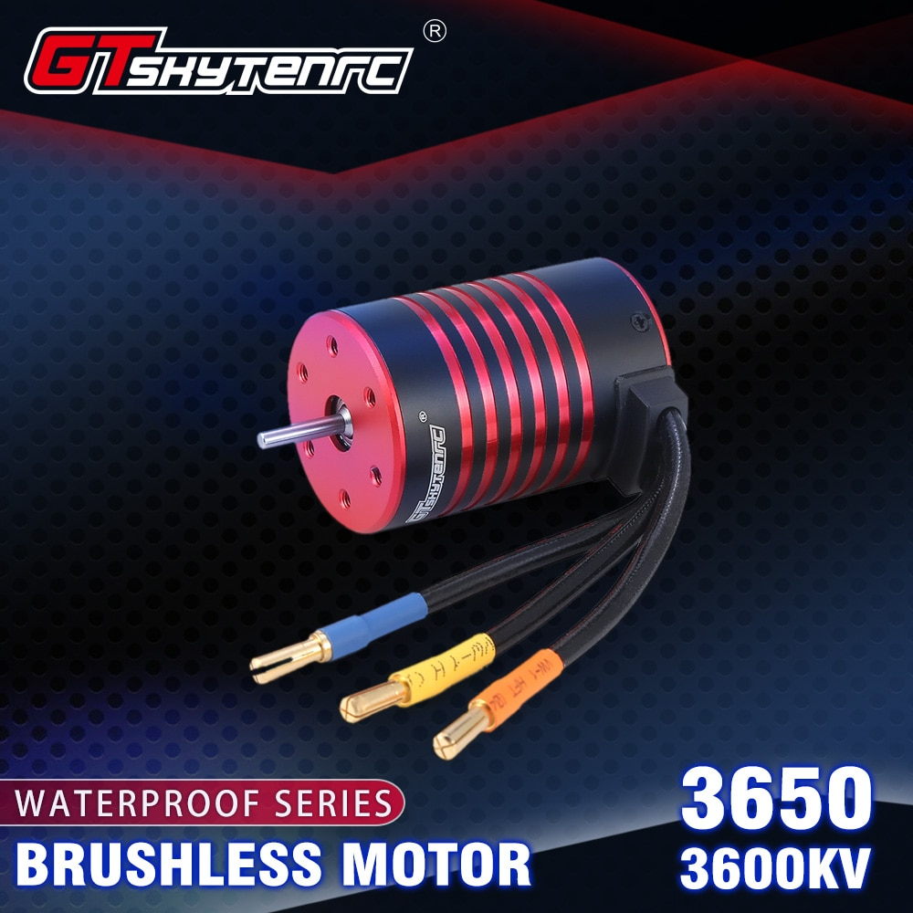 GTSKYTENRC 3650 3600/5200KV Carro de Controle Do Motor Brushless para 1/10 RC Car Truck