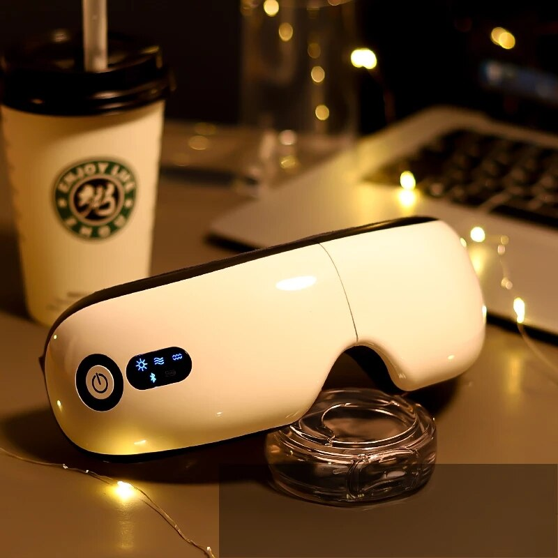 Wireless Smart Airbag Vibration Eye Massager Eye Care Multi-Stage Hot Compress Bluetooth Music Relieves Fatigue And Dark Circles недорого