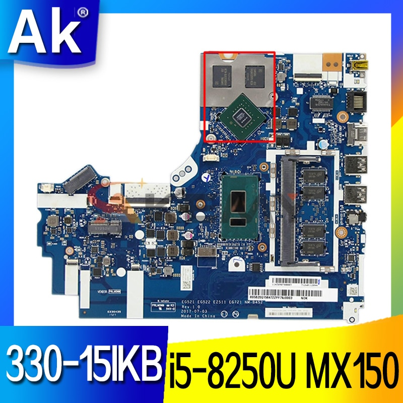 5B20R19909-اللوحة الأم المنفصلة NM-B452 ث/i5-8250U وحدة المعالجة المركزية + MX150 وحدة معالجة الرسومات لينوفو IDEAPAD 330-15IKB