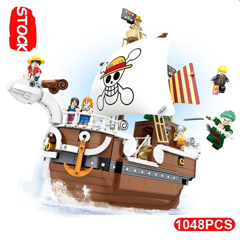 QIYE Lepining sombrero de paja pirata sirena barco soleado bloques 3D2Y Techinc Playmobil Original una pieza Lepinblcoks chico Juguetes