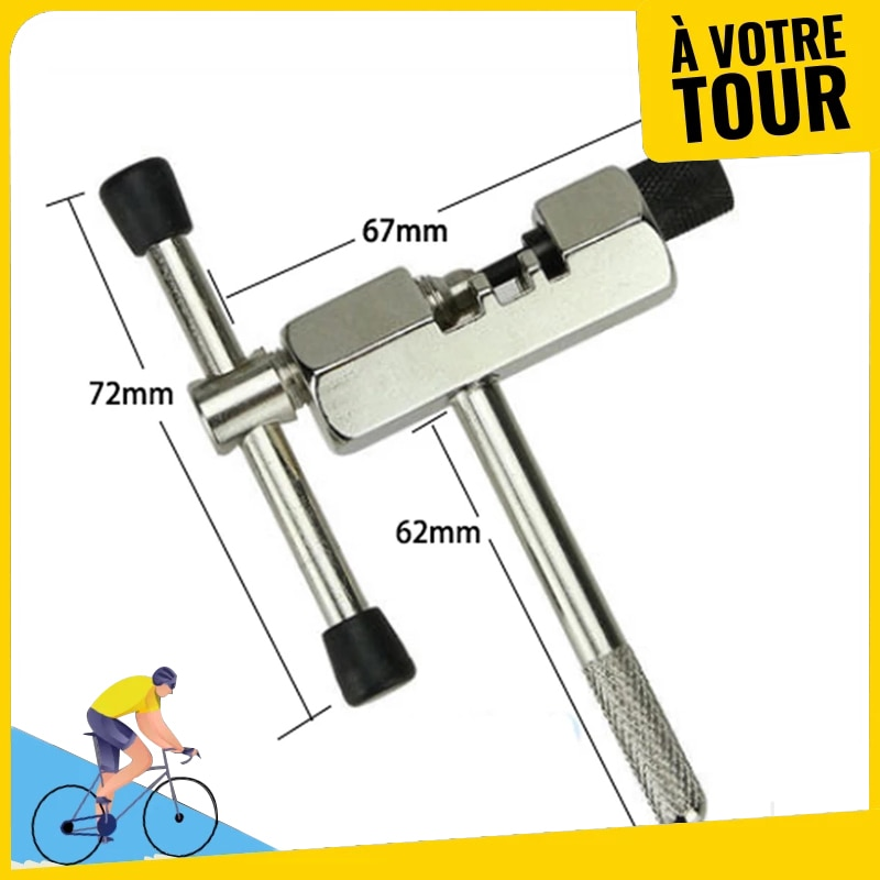 Stainless Steel Cycling Bike Chain Squeeze Breaker Remover Pin Splitter Device Bicycle Rivet Extractor Cutter Removal RepairTool