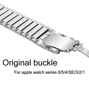 stainless steel strap for apple watch band 42mm 38mm iwatch band 44mm 42mm series 6/SE/5/4/SE/3/2 Original buckle metal bracelet