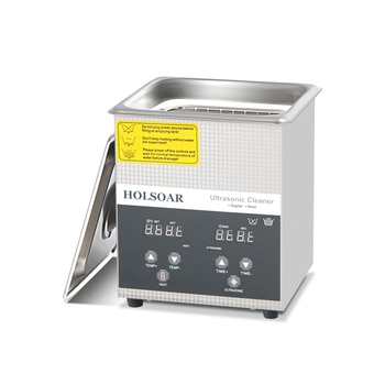 Ultrasonic Cleaner 2L 60W Ultrason Cleaner Bath with Heater Timer and Basket for Cleaning Jewelry Brass Sonic Cleaner