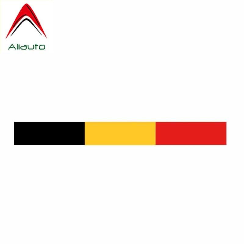 Aliauto Mode Auto Aufkleber Belgien Flagge Auto Zubehör Vinyl Aufkleber Abdeckung Kratzer für Lada Niva Toyota Rav4 Hyundai, 15cm * 2cm