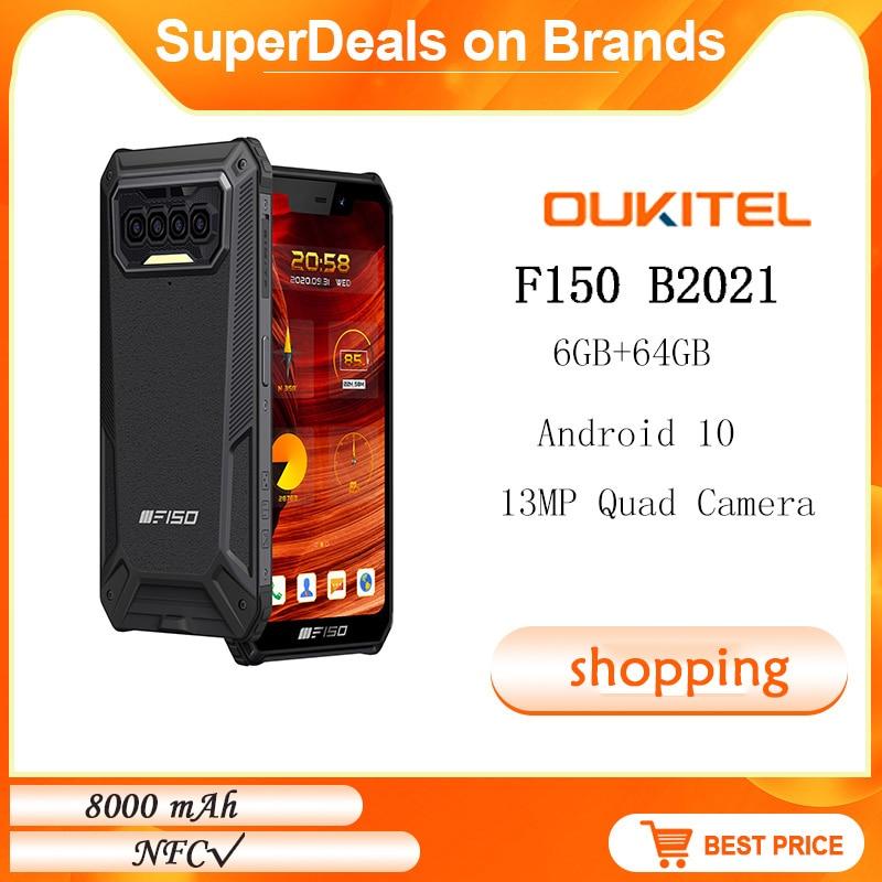 Oukitel F150 B2021 водонепроницаемый телефон, 6 + 64 ГБ, 8000 мАч, Восьмиядерный