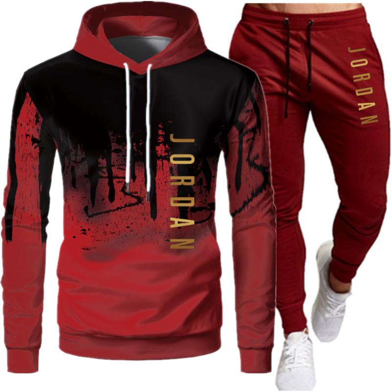 Jordan-Conjunto de 2 piezas para Hombre, Sudadera con capucha + Pantalones, Jersey,...