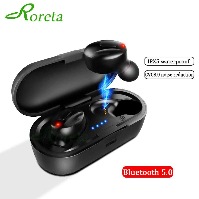 Roreta, мини беспроводные Bluetooth наушники, стерео наушники, гарнитура, Hi-Fi, спортивные наушники, гарнитура, игровая гарнитура с микрофоном для ...