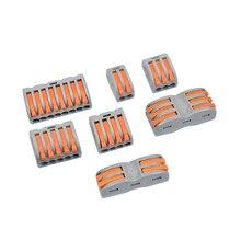 Mini Fast Wire Connector Wire Terminal PTC-212/213/214 Crimp Terminals SPL-2 SPL-3 Block Threader Splitter 1/10/20/30PCS